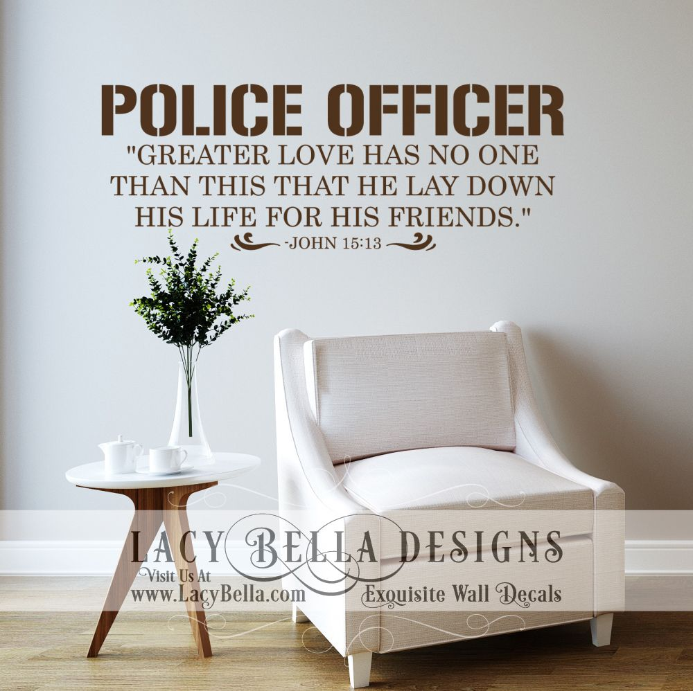 Police Officer scripture reference quote \