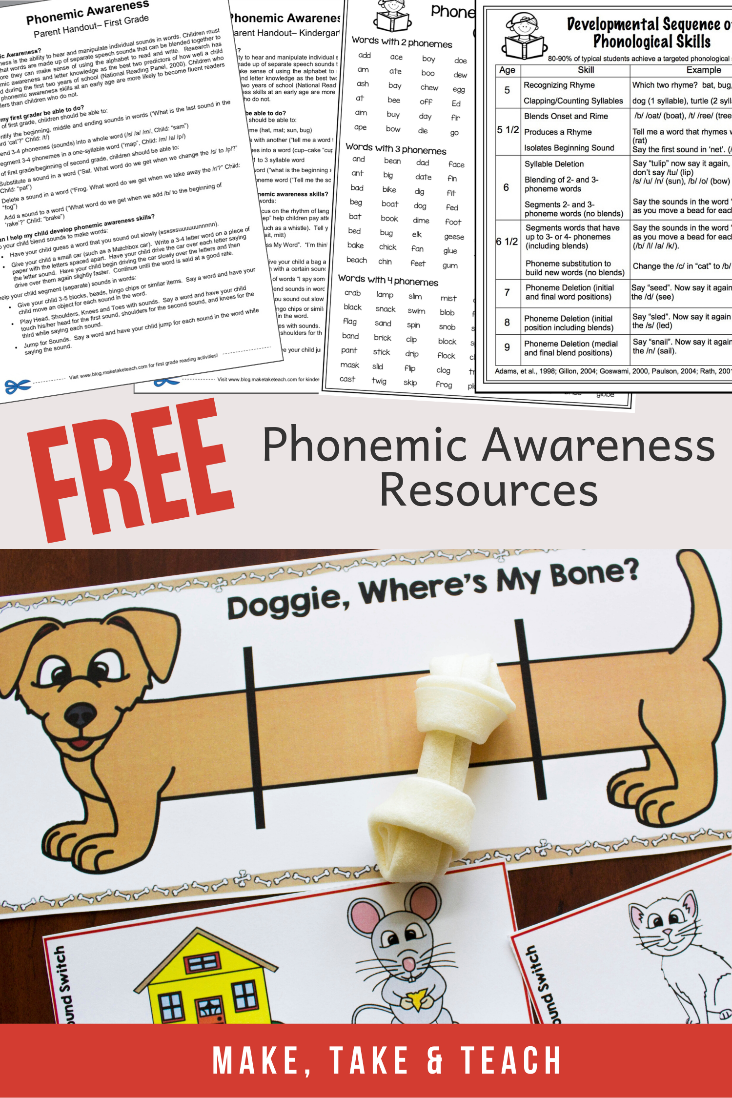 Phonemic Awareness Free Resources