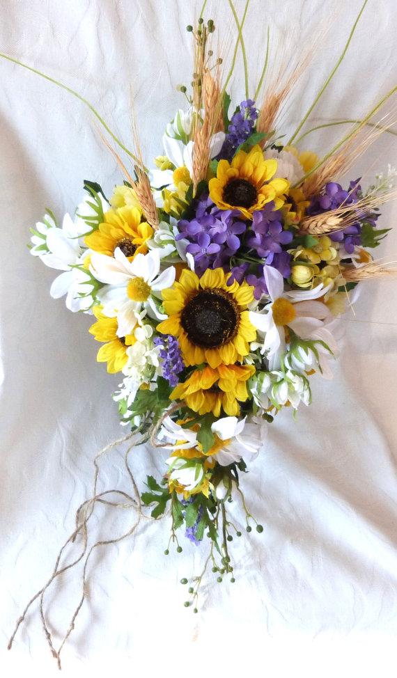 Cascade Sunflower Wedding Country Wedding By Churchmousecreations