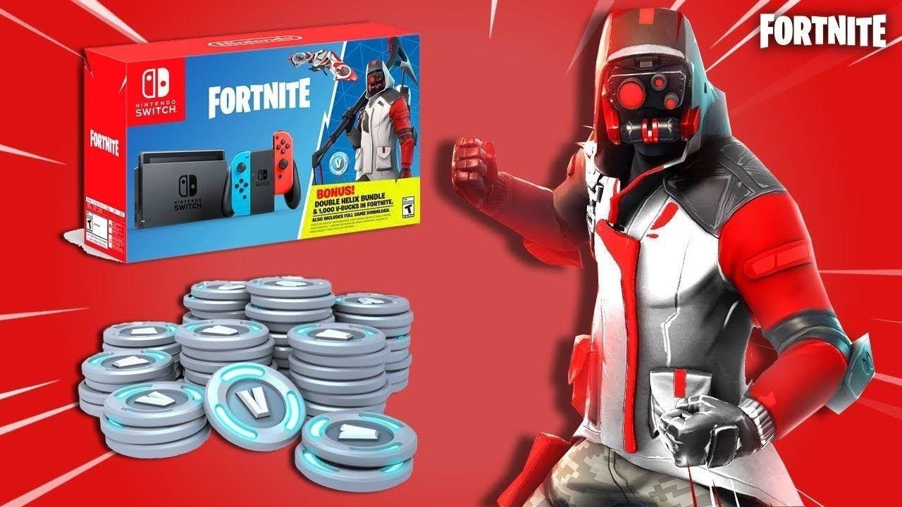 Nintendo Switch Double Helix Fortnite Skin 1000 Vbucks Fortnite Double Helix Nintendo Switch