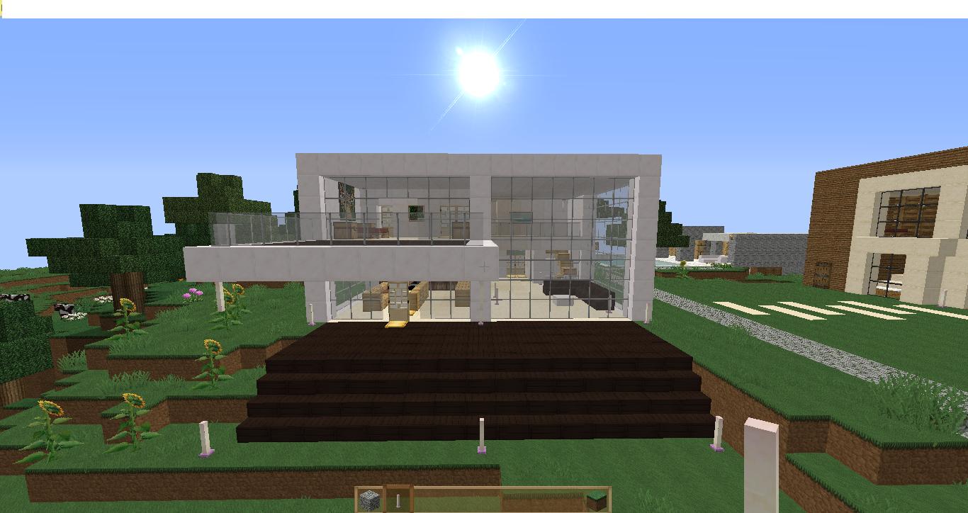 Casa moderna basata su progetto reale minecraft designer for Progetto casa moderna nuova costruzione