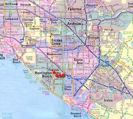 Huntington Beach California Map Huntington beach Pinterest