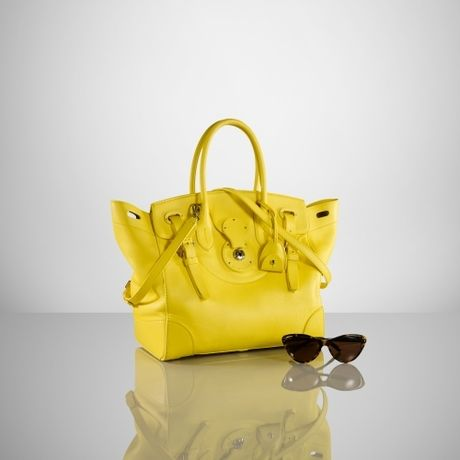 Ralph Lauren Soft Ricky Bag in Yellow  9c8d1fabb7ee4