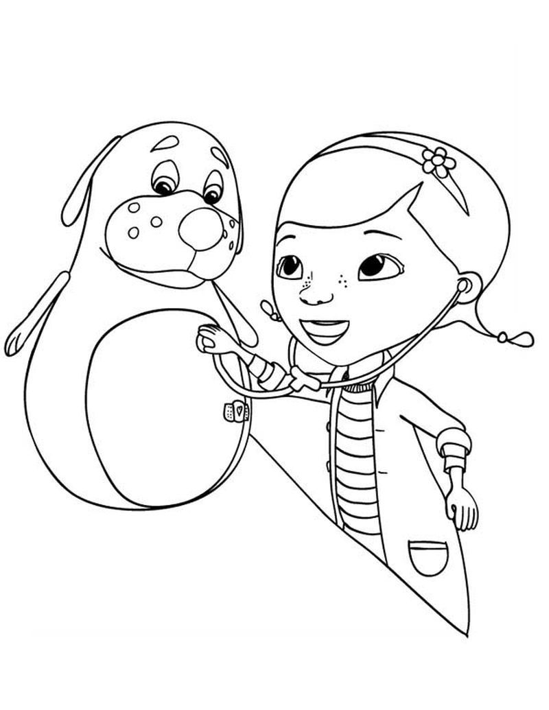 Doc Mcstuffins Coloring Pages Pdf Doc Mcstuffins Coloring Page To