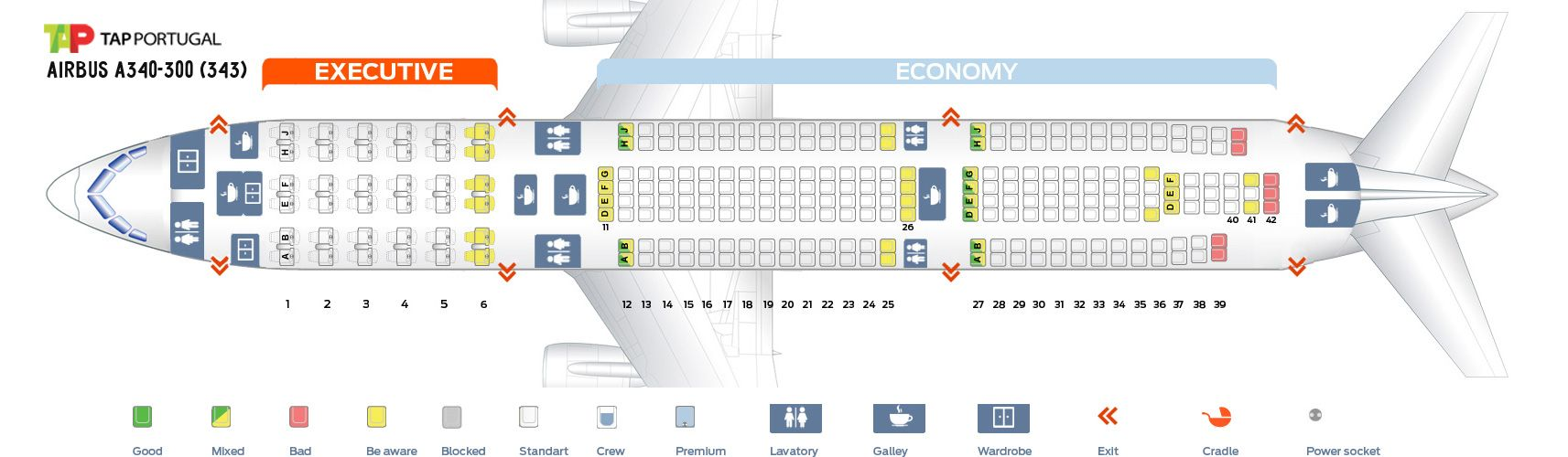 Tap Air Portugal Fleet Airbus A340 300 Details And Pictures Interior