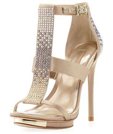 BCBGMAXAZRIA Lilie bejeweled sandal found on Nudevotion
