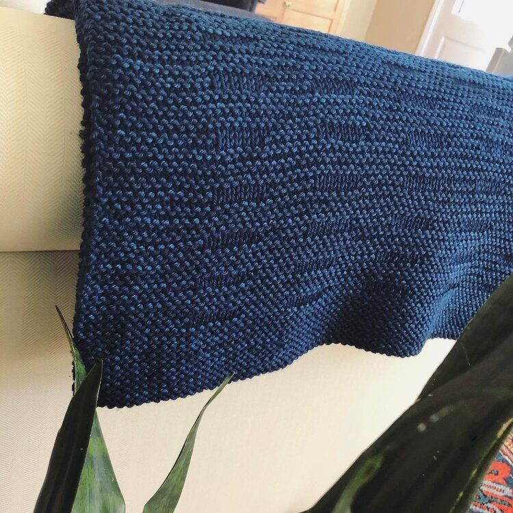 Easy to Knit Modern Blanket Knitting Pattern for Worsted