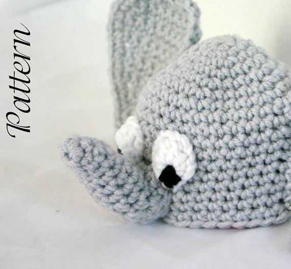 Baby Elephant Hat Pdf Crochet Pattern Newborn 2 Months Beanie Infant