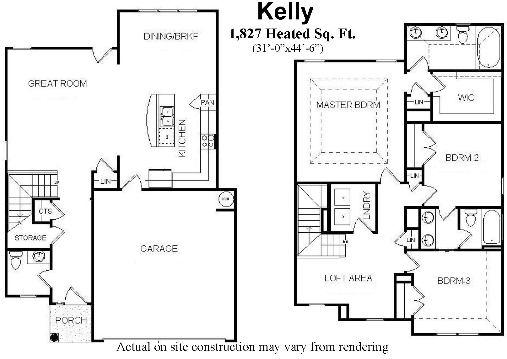 Two Story Open Floor House Plans With 3 Bedrooms Kelly Open Floor House Plans House Floor Plans Floor Plans