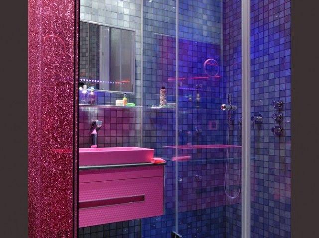 Beautiful Salle De Bain Rose Et Bleu Pictures - Awesome Interior ...