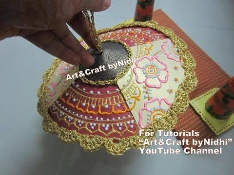 How To Make Base For Umbrella Dome From Waste Materials Weddingcards Brochure Watching Embroidery Work On This Visit
