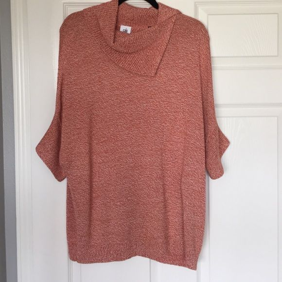 CAbi Foldover Pullover - size Small CAbi Fall 15 Collection (style #3011).  No wool so super soft and comfy. Short sleeves. New, never worn. CAbi Sweaters Cowl & Turtlenecks