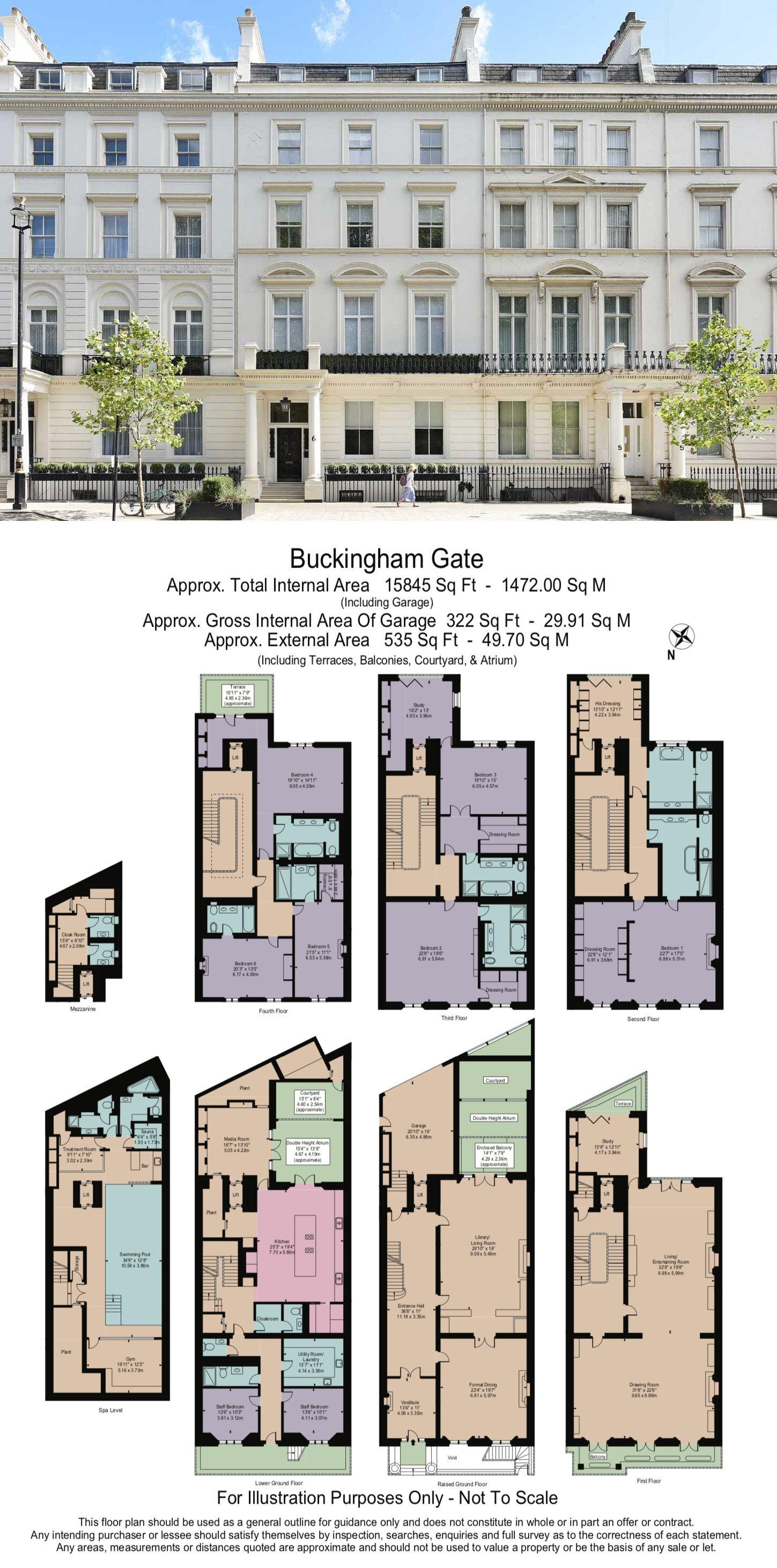 6 Bedroom Property For Sale In Buckingham Gate Sw1 60 000 000 Town House Floor Plan Mansion Floor Plan Architectural Floor Plans