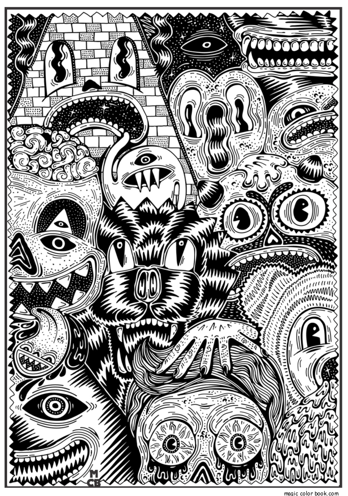 adults patterns coloring pages 07 - Pattern Coloring Pages