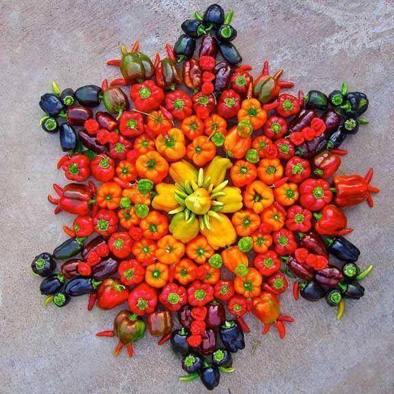 mandala de verduras