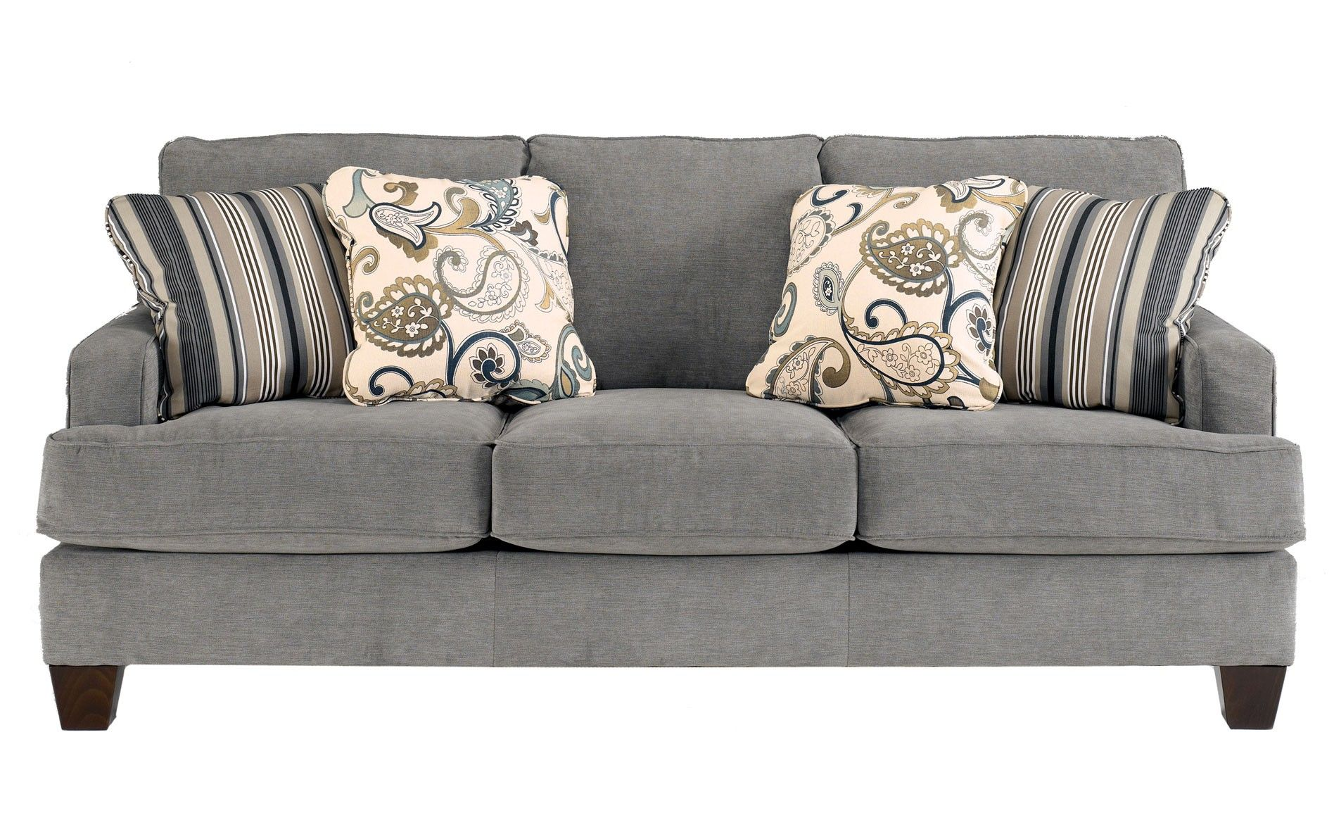 Ashley Yvette Sofa Steel Sofas Raleigh Furniture
