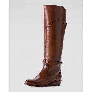 Frye Dorado Polished Leather Riding Boot - Dark Brown (6.0B)