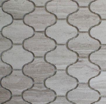 Marble Lantern Shaped Mosaic Tile X Wooden Grey 1 Carton 15 Shee Contemporary Gl Stone Ltd