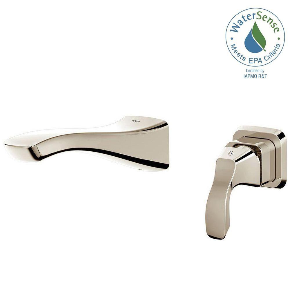 Delta Tesla Single-Handle Wall Mount Bathroom Faucet Trim Kit in ...