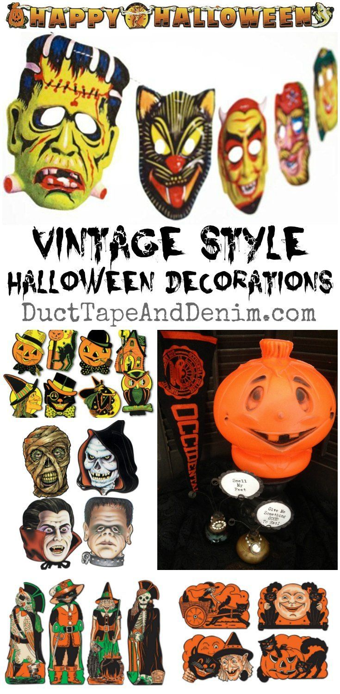 1960s halloween decorations - Vintage Halloween Decorations