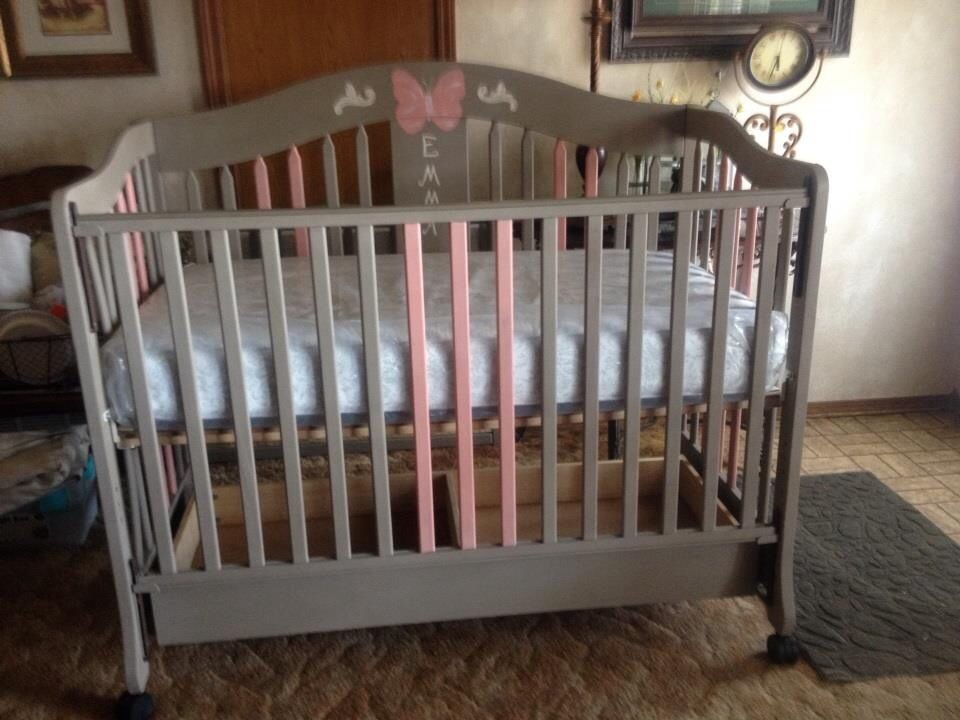 This Is The Finished Crib Painted With Annie Sloan Chalk