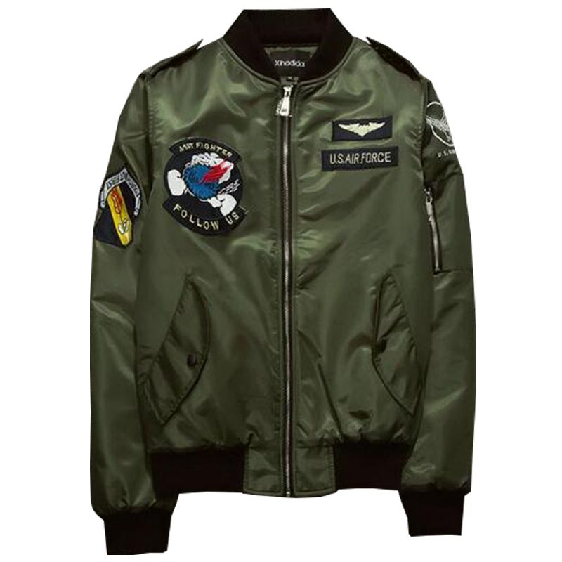 ABOORUN MA1 Bomber Jacket Men 2017 US Air Force Pilot Jacket Mens ...
