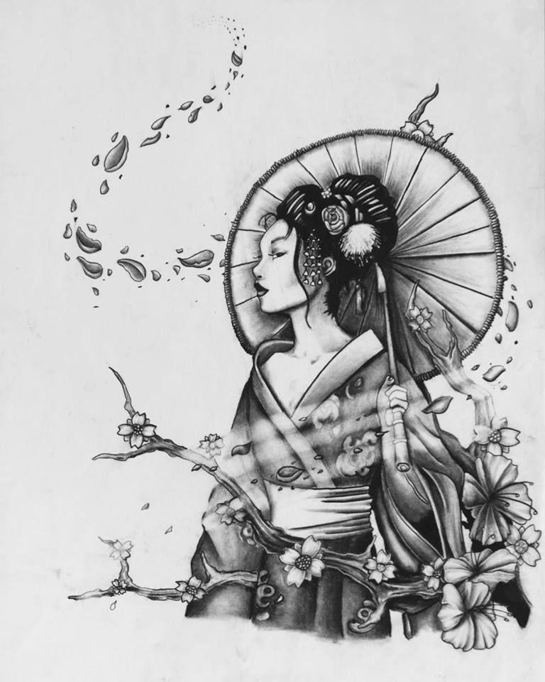geisha sketch h ada googlom tattoo ideas pinterest tatouages japonais et tatouage. Black Bedroom Furniture Sets. Home Design Ideas