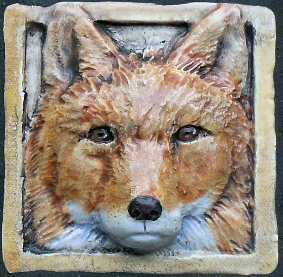 Fox decorative ceramic tile quot  american