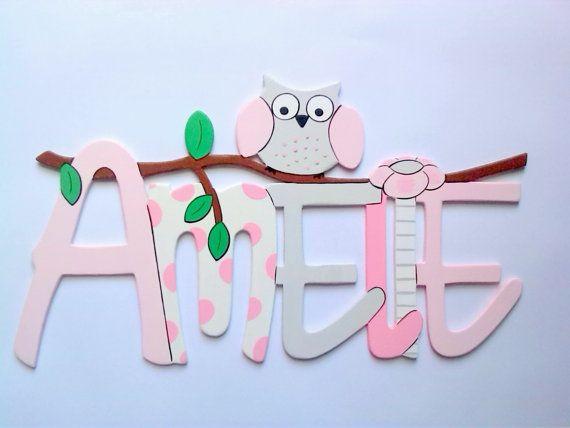 Door sign nameplate owl kinderzimmer pinterest for Namensschild kinderzimmer