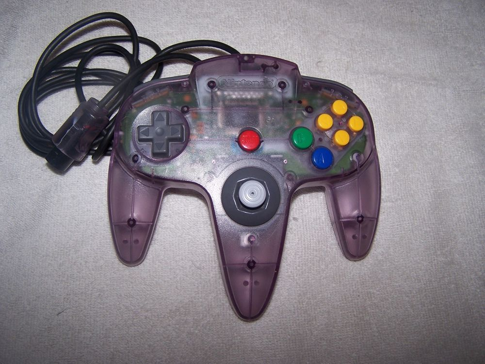 Official Nintendo 64 Atomic Purple Controller N64 Remote Paddle Works Nintendo Nintendo Nintendo 64 Gaming Products