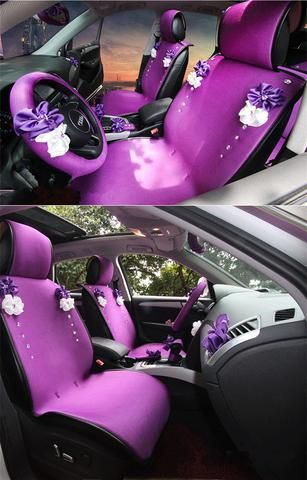 Purplize Your Ride-Purple car seat cover with Rhinestone bling Five ...