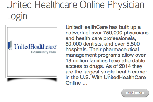 United Healthcare Online Physician Login Health Care United