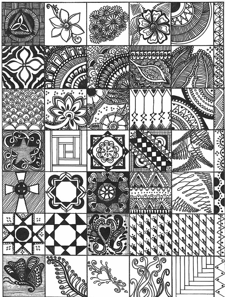 All sizes | Zentangle Sampler #2 | Flickr - Photo Sharing! | Art ...