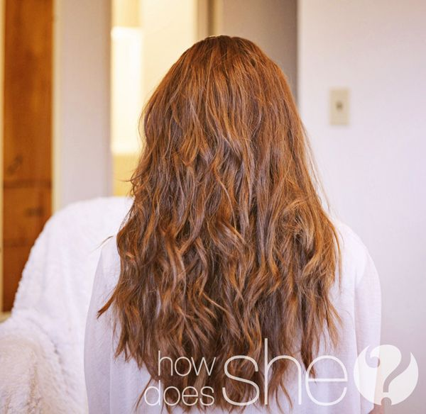 Easy beach waves with no curling iron...I have naturally straight hair and this worked on me!