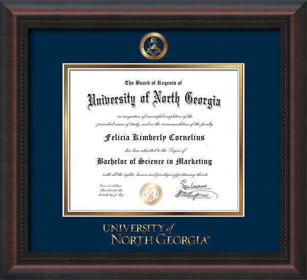 University Of North Georgia Diploma Frames Military