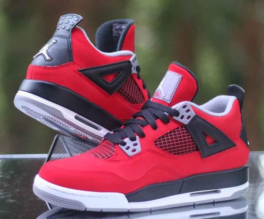 brand new dbdc2 493ab Air Jordan 4 Retro (GS) Toro Bravo Fire Red White 408452-603 Size 5.5Y   Jordan  BasketballShoes