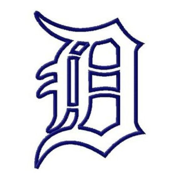 old english font outline are you able to make any detroit rh pinterest co uk detroit tigers d logo font