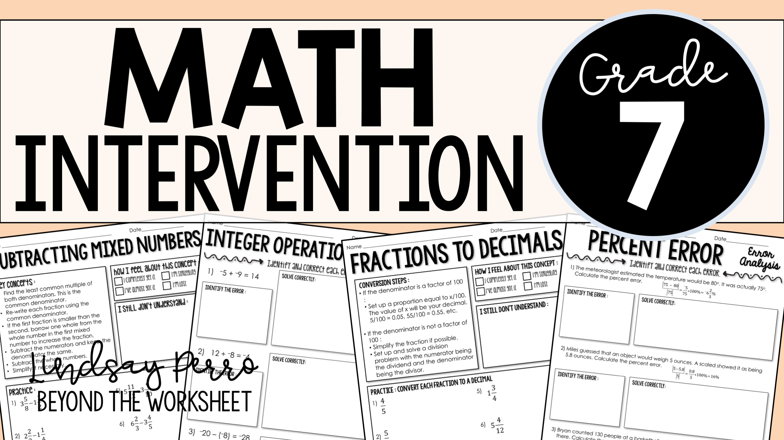 Everything You Need For Successful Math Intervention In 7th Grade Math Intervention 7th Grade Math Math [ 1404 x 2500 Pixel ]