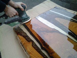 Come costruire un tavolo di legno e resina | Bagni | Tavoli ...