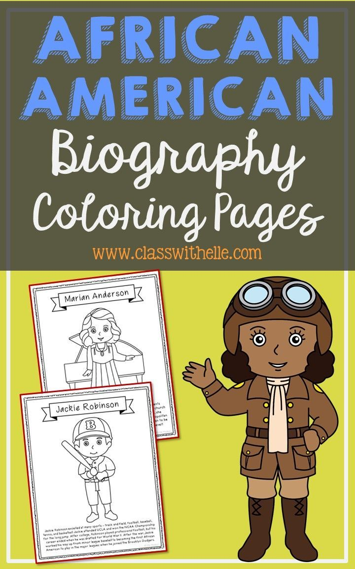 14 African American Coloring Page Crafts, Posters, Black History ...