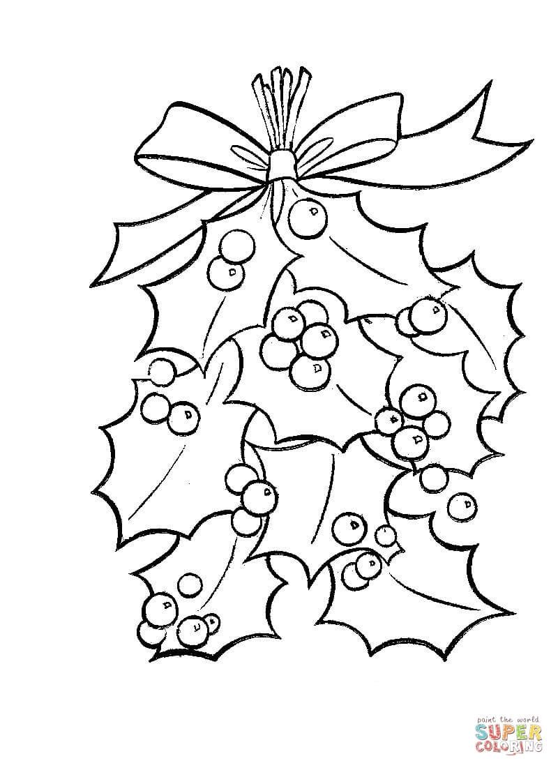 Christmas Coloring Pages Holly You'll Love