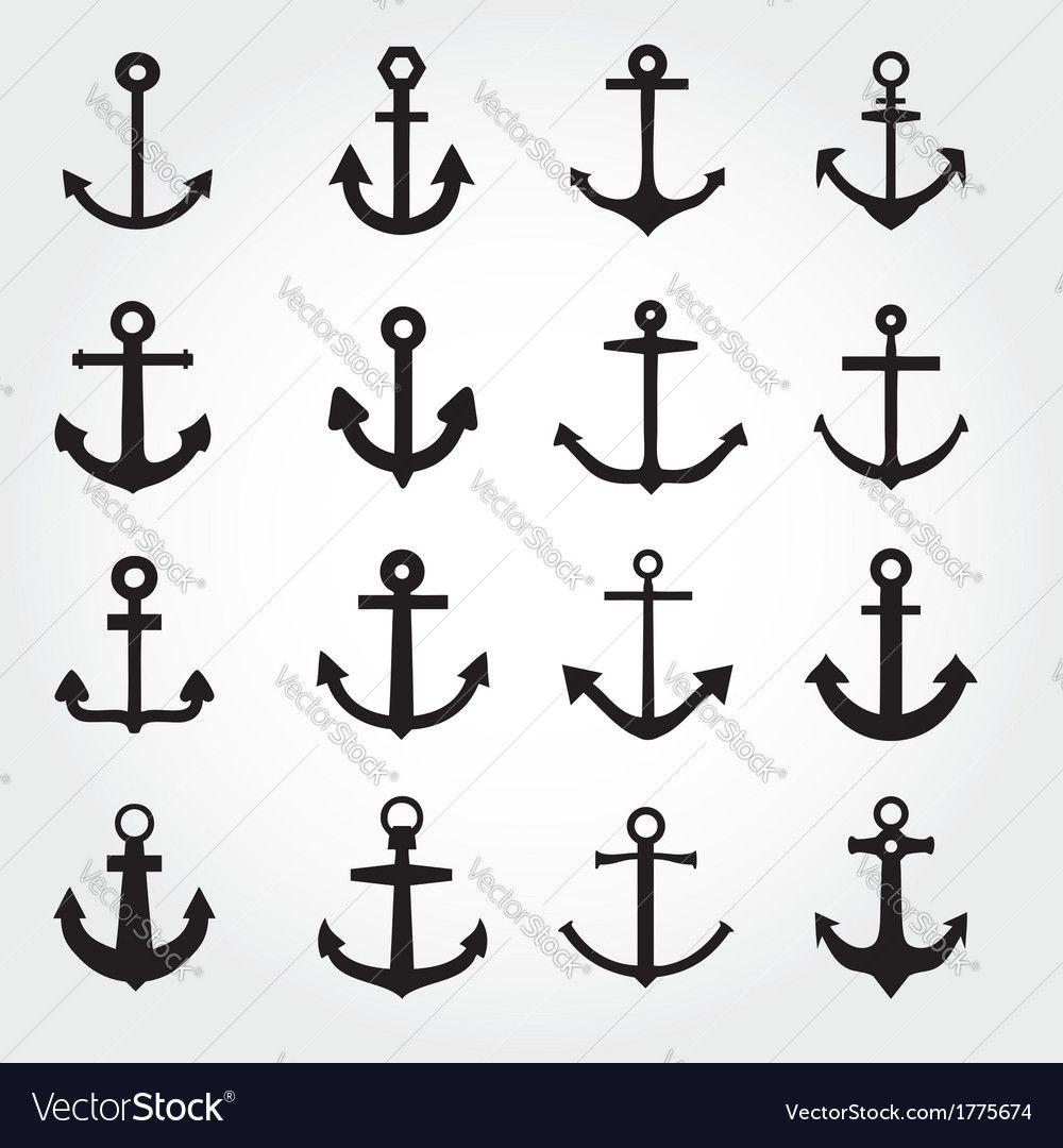 Set of anchor symbols or logo template vector download a free set of anchor symbols or logo template vector download a free preview or high quality biocorpaavc