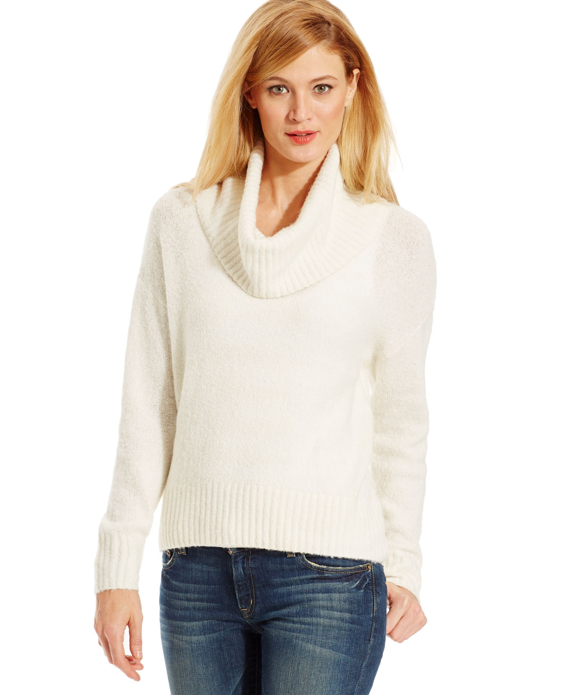 Michael Michael Kors Petite Size Cowl-Neck High-Low Sweater