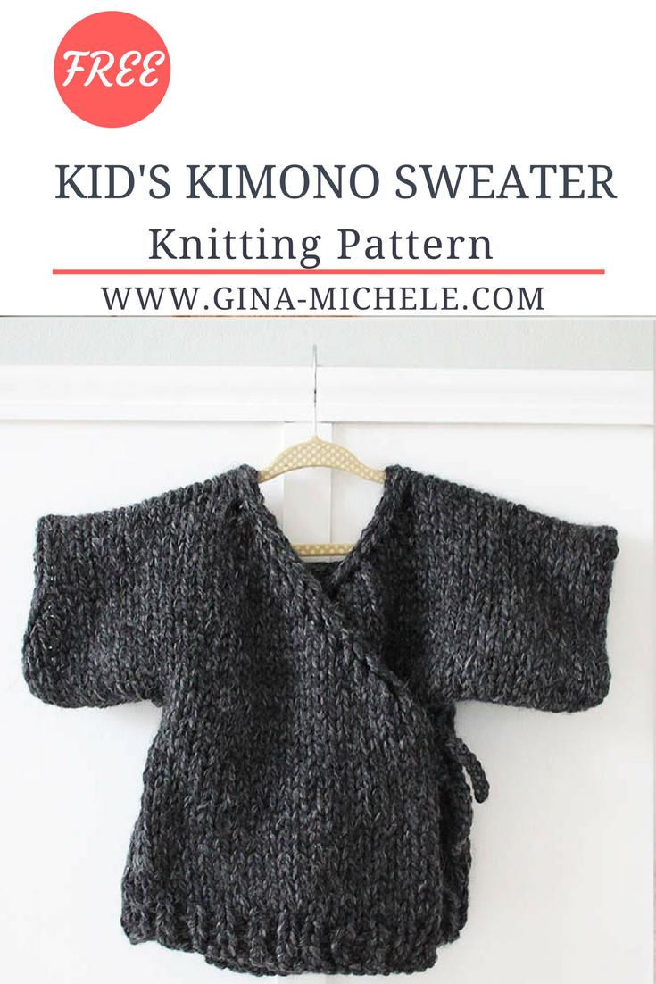Toddler Kimono Sweater Knitting Pattern | Knitting patterns ...