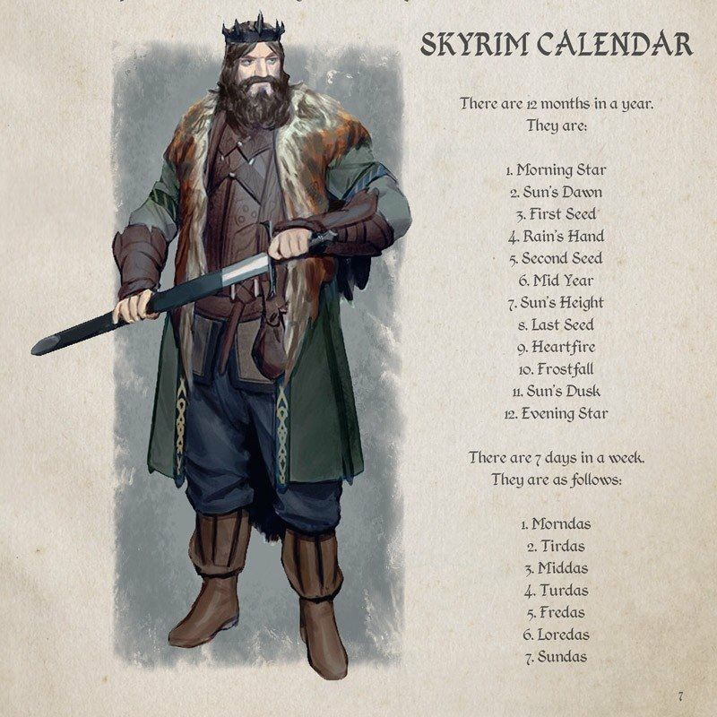 Skyrim Calendrier.Skyrim Calendar Very Helpful It D Be Cool To See If A