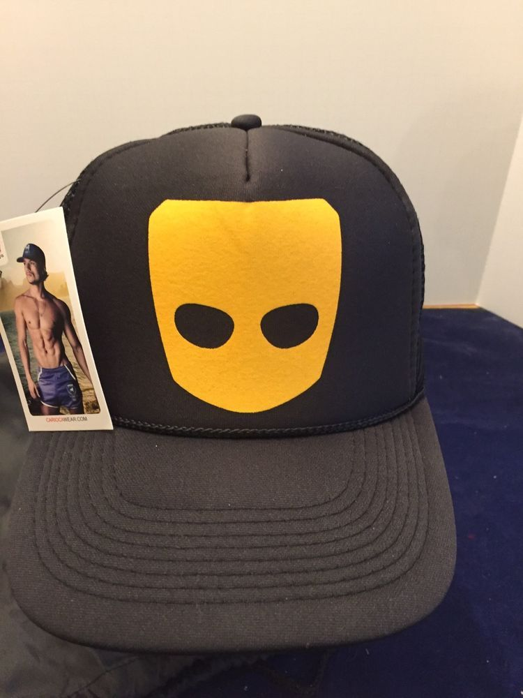 bd388cc1 Grindr Ball Cap Gay Hat Men's One Size Black Yellow Logo Snapback Grinder  New #OttoCollection #snapback