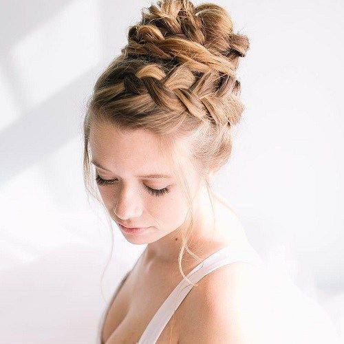 Hairstyles With Headbands 40 Cute And Comfortable Braided Headband Hairstyles  Updo Bun Updo