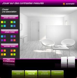 Simulateur pour association de couleur peinture et couleur déco