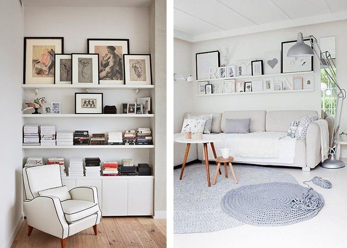 Fotowand selber machen bilderleisten wohnbereich gestalten ideen