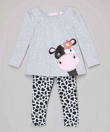0cb1f56917e7e1 Loving this Gray Cow Tunic | Kensington Faith | Girls in leggings ...